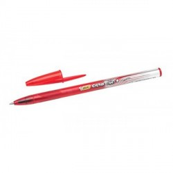 Stylo bille Cristal Gel rouge BIC