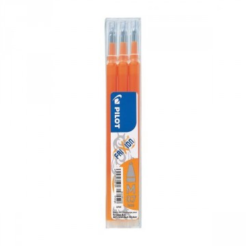 Pochette de 3 recharges roller Frixion Ball orange PILOT