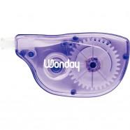 Trousse ronde 1 compartiment 21cm bleue