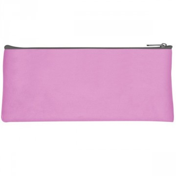 Trousse plate 1 compartiment 22cm rose