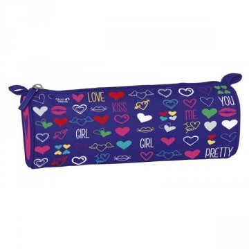 Trousse ronde 1 compartiment Love and Peace 23cm