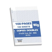 Sachet de 100 pages copies doubles 90 grs seyès
