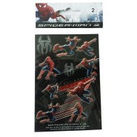 Lot de 2 planches de stickers 125x85mm Spiderman 3