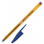 Stylo bille bleu Cristal Orange fin Bic