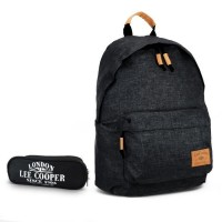 Sac à dos 1 compartiment noir + trousse offerte Lee Cooper