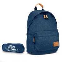 Sac à dos 1 compartiment bleu navy + trousse offerte Lee Cooper