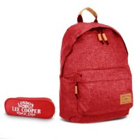 Sac à dos 1 compartiment rouge + trousse offerte Lee Cooper