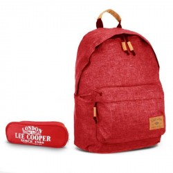 Pack sac à dos 1 compartiment rouge + trousse offerte Lee Cooper