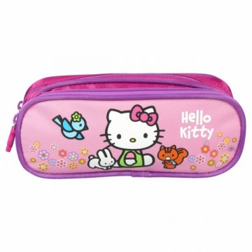Trousse rectangulaire 2 compartiments Hello Kitty