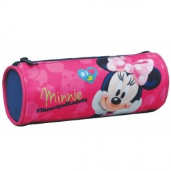 Trousse ronde 1 compartiment Minnie Disney 20cm