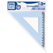 Equerre incassable 21cm 45° JPC