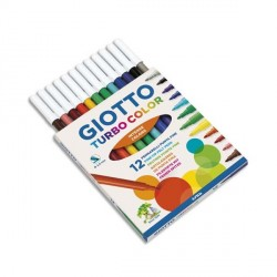 Etui de 12 feutres Turbo Color pointe moyenne Giotto