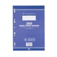 Sachet de 200 pages copies doubles 17x22 cm seyes