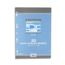 Sachet de 50 pages unies A4 dessin 120g perforées