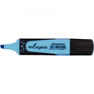 Trousse rectangulaire 2 compartiments 22cm bleu