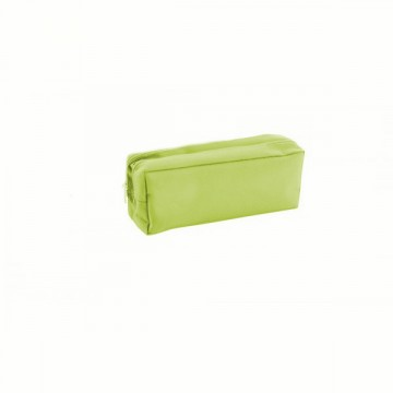Trousse rectangulaire 2 compartiments 22cm vert