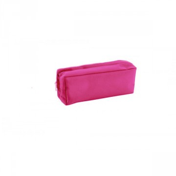Trousse rectangulaire 2 compartiments 22cm rose