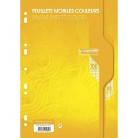 Feuillets mobiles A4 100P seyes 80G jaune Calligraphe