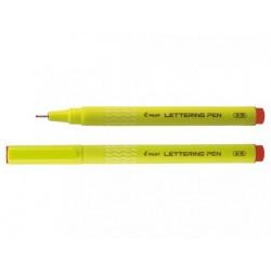 Stylo feutre lettering pen rouge pointe fine Pilot