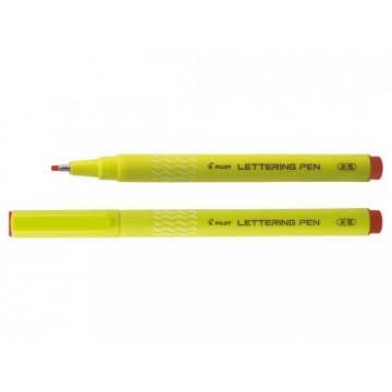 Stylo feutre lettering pen rouge pointe moyenne Pilot