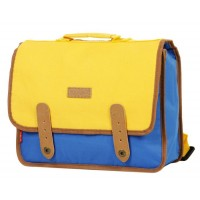 Cartable Kickers Premium 1 compartiment 30 cm bleu jaune