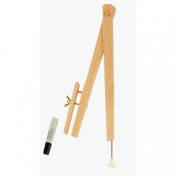 Trousse ronde Kickers bleu jean 22 cm
