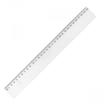 Règle plate 30 cm translucide