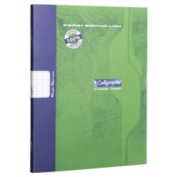 Cahier de brouillon 17X22 96P 56G CALLIGRAPHE