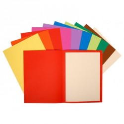 Paquet de 10 chemises 220G 24X32 couleurs vives assorties Exacompta