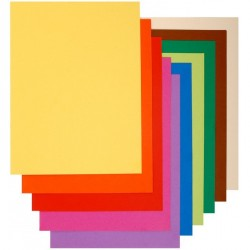 Paquet de 30 sous-chemises 80G 21X31 couleurs vives assorties Exacompta