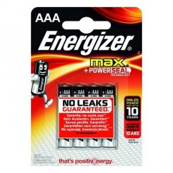 Blister 4 piles LR03 AAA ENERGIZER