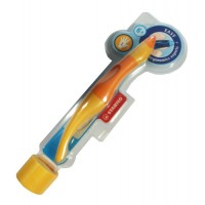 Stylo roller orange gaucher Easy original + 3 recharges bleues Stabilo