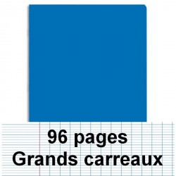 Cahier polypro A4 96P piqure seyes bleu