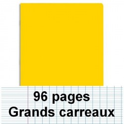 Cahier polypro A4 96P piqure seyes jaune