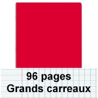 Cahier polypro A4 96P piqure seyes rouge