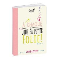 Agenda scolaire 12x17 Notes Folie 2018-2019