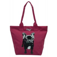 Sac shopping Wildlife Dog violet 1 compartiment