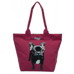 Sac shopping Wildlife Dog violet 1 compartiment