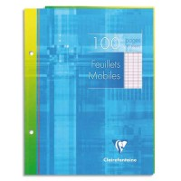 FEUILLETS MOBILES 17X22 100 PAGES SEYES BLANC CLAIREFONTAINE