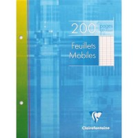FEUILLETS MOBILES 17X22 200 PAGES SEYES BLANC CLAIREFONTAINE