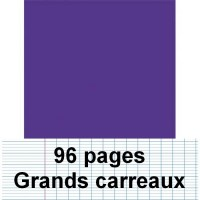Cahier polypro 17X22 96P piqure seyes violet