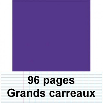 Cahier polypro 24X32 96P piqure seyes violet