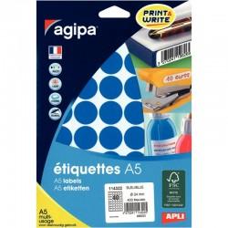 Protège-documents bleu 100 vues 50 pochettes 24X32 cm polypro