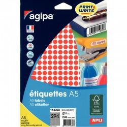 Cahier polypro 17X22 96P piqure seyes orange