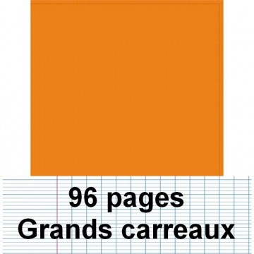 Cahier polypro 24X32 96P piqure seyes orange