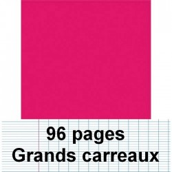 Cahier polypro 24X32 96P piqure seyes rose