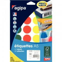 Cahier polypro A4 96P piqure seyes orange