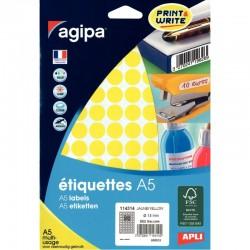 Cahier polypro 24 x 32 cm 48 pages piqure seyès jaune