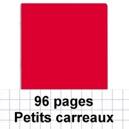 Cahier polypro 24X32 cm 96 pages piqure 5x5 rouge