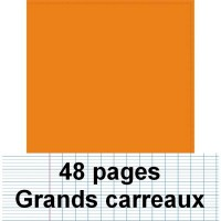 Cahier polypro 24X32 cm 48 pages piqure seyès orange